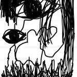 川本真琴(43)さんが狩野英孝復帰の日に絵を投稿、タイトル「おまえをみている」 (※画像あり)