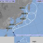 【悲報】台風22号さん、進路予想図が決まるwwwww マジかよ・・・