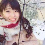 【朗報】まちゃりん、積雪を初体験。