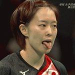 石川佳純さんの舌がなんかスゴイwwwww