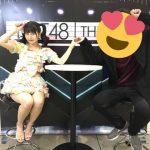 【朗報】HKT48写メ会 テーブル半分になる! セクシー衣装!!