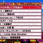 女性に歌って欲しいラブソングランキングに1位乃木坂3位欅坂8位AKB