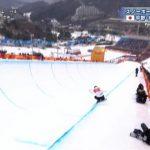 【GIF画像】ハープパイプ決勝で日本人選手が大事故【平昌五輪】