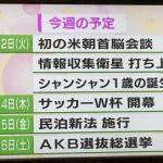 【朗報】 NHKニュース、今週の予定に 「米朝首脳会談」 「Wカップ開幕」 「AKB選抜総選挙」 w w w w w w w w w w w w w w w w w w w