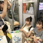 東海道本線に乗り込んだ美少女グループに車内騒然!!