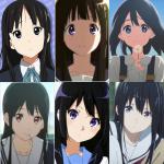 【悲報】京アニの黒髪ロングヒロインさん、見分けがつかない (※画像あり)
