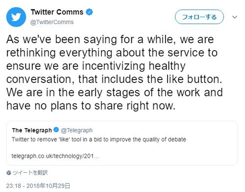 【朗報】Twitterが議論の質を低下させる「いいね」機能を削除かwwwwwwww