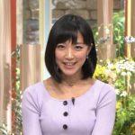 【神GIF】竹内由恵アナ、胸をちょんと当てるwwwwwwwwwww