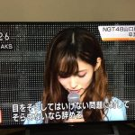 NHK新潟ブチギレ。報道画面に山口真帆のコメント全文読めるQRコードを表示する