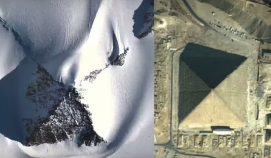 【画像】南極大陸で古代ピラミッドを3つ発見。山ではなく人工構造物な件wwwwwwww