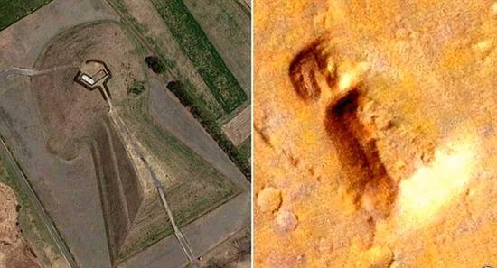 【画像】火星で古代日本の権力者の墓である古墳のような物体が発見されるwwwwwwww