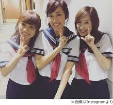 【画像】早見優、森口博子、松本明子のセーラー服姿公開に「抱くなら誰?」論争が勃発