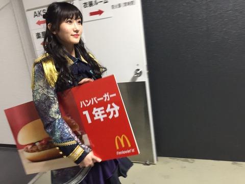 矢倉楓子「今からこれ持ってハンバーガー引き換えに行ってくるねん」