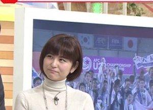 【画像】テレ朝・宇賀なつみアナのお●ぱいってこんなにデカかったのかよwwwwwwwwww