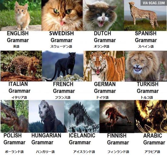 【画像】世界各国の言語の習得難易度を表す画像がコチラwwww