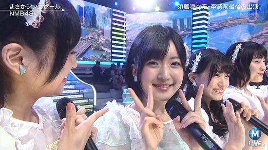 【悲報】 NMB48須藤凜々花 ダブルピースでMステ最後の出演 視聴者から批判殺到「謝罪しろ」