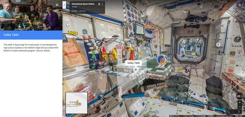 Googleストリートビュー、ついに宇宙進出!自宅から国際宇宙ステーション(ISS)が探索可能に(※画像あり)