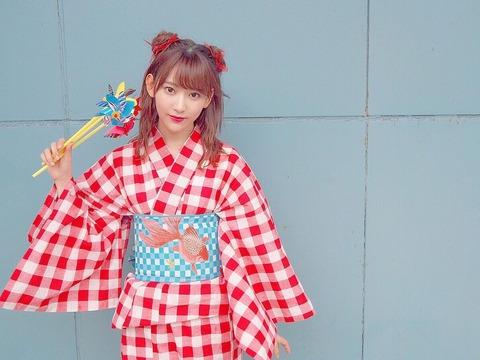 宮脇咲良ちゃんの浴衣姿が可愛すぎる件wwwwwwww