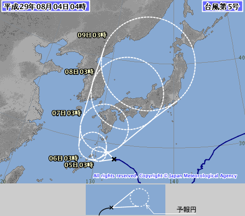 台風5号(ノルーちゃん)の写真がヤバイ